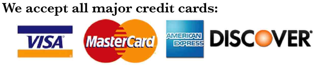 Allscape Accepts all Major Credit Cards.