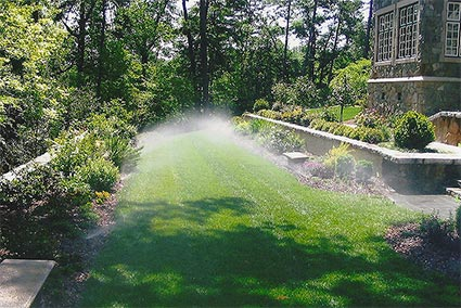 Lawn Sprinkler Turn On